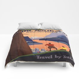 Vintage poster - Pacific Northwest Comforters