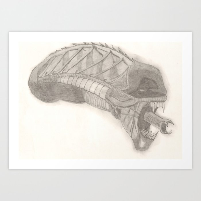 Alien Warrior. Art Print