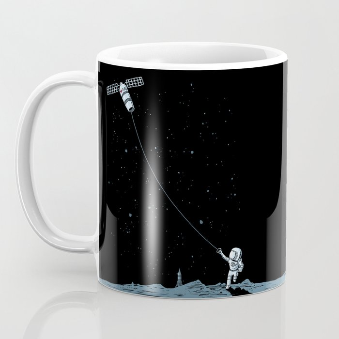 Satellite Kite Coffee Mug