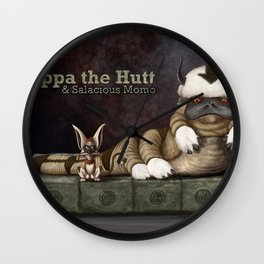 Appa the Hutt and Salacious Momo Wall Clock