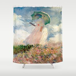 Claude Monet's Woman with a Parasol, Study Shower Curtain