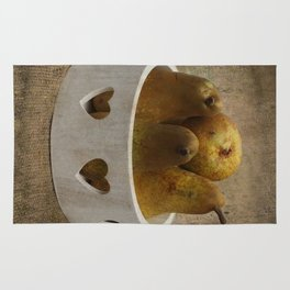 Pears In The Wooden Bowl Rug