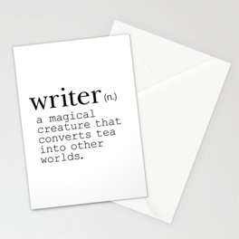 Writer Definition Converts Tea Stationery Cards