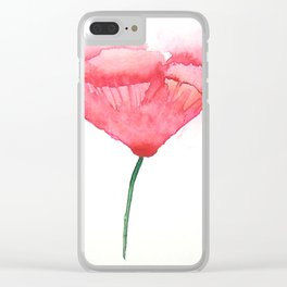 Red Poppy Clear iPhone Case