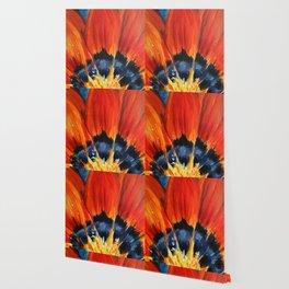 Orange Flower Painting Wallpaper