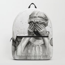 Weeping Angel Watercolor Painting Backpack
