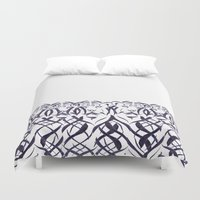 tigers Duvet Covers featuring Tigers by Camille Hermant