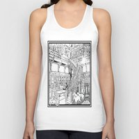 puppies Tank Tops featuring Borzoi puppies by Agy Wilson