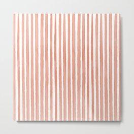 Vertical watercolor stripes Metal Print