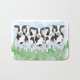 A Field of Cows Bath Mat