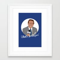 dodgers Framed Art Prints featuring Vin Scully by Eric J. Lugo