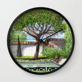 City Landscapes - Laghetto di Villa Ada - Rome - Italy Wall Clock