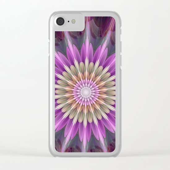 Bright shining fantasy flower Clear iPhone Case