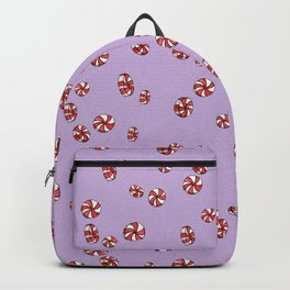 Peppermint Candy in Purple Backpack