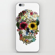 Skull flower iPhone & iPod Skin