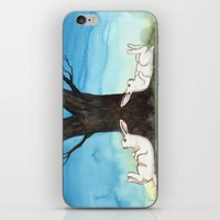 moonrise iPhone & iPod Skins featuring Moonrise by Bluedogrose