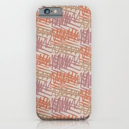 Scribbled Impatience 2   Neutral Colors Pattern iPhone Case