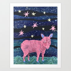 Spacepig Art Print