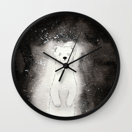 Ghostly Stoat Wall Clock
