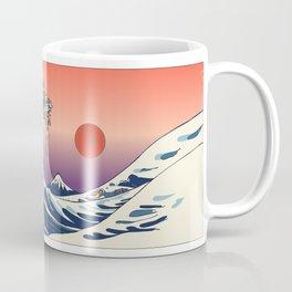 The Great Wave of Dachshunds Coffee Mug