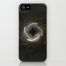 Metallic Swirl Fractal iPhone Case