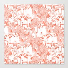 just goats flame orange Canvas Print