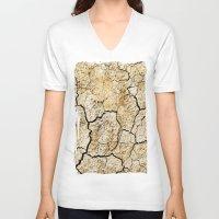 broken V-neck T-shirts featuring Broken by Irène Sneddon
