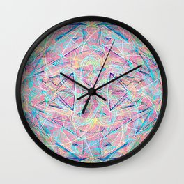 colorful rain Wall Clock