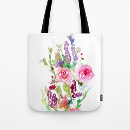 Bright Pink and Purple Wildflowers Tote Bag