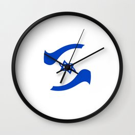 flag of israel 11- יִשְׂרָאֵל ,israeli,Herzl,Jerusalem,Hebrew,Judaism,jew,David,Salomon. Wall Clock
