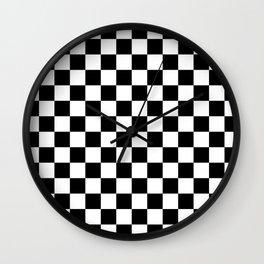 Checker Black and White Wall Clock