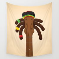 reggae Wall Tapestries featuring Reggae by Emir Simsek