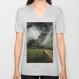 Cyclone-tornado Unisex V-Neck