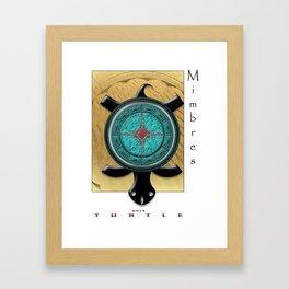 Mimbres Turtle Framed Art Print
