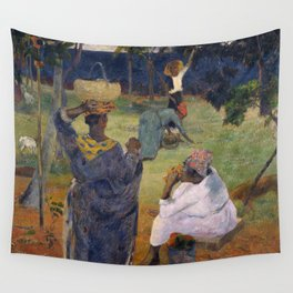 1887 - Gauguin - Among the mangoes at Martinique Wall Tapestry