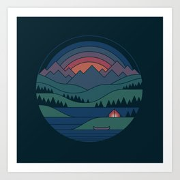 The Lake At Twilight Art Print