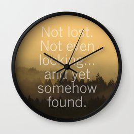 Not Lost. Wall Clock