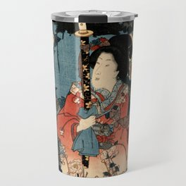 Garden of the Prosperous Blooms Triptych 1 Travel Mug