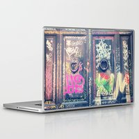 doors Laptop & iPad Skins featuring doors by dillon hesse