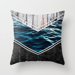 Striped Materials of Nature IV Throw Pillow