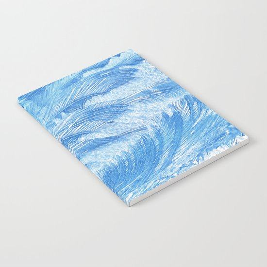 Blue frost abstract Notebook