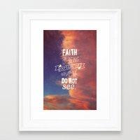faith Framed Art Prints featuring faith  by Brittney Borowski