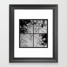 Splintered Flower Framed Art Print