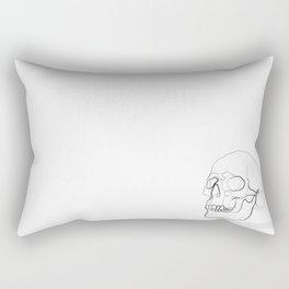 Skull Line Drawing Rectangular Pillow
