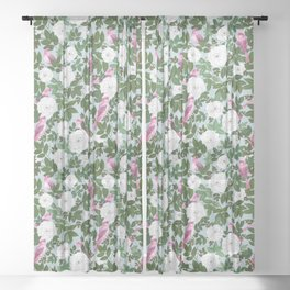 Rosefinches Sheer Curtain