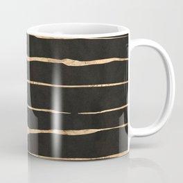 Modern rose-gold messy stripes pattern Coffee Mug