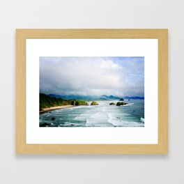 View from Ecola State Park, Cannon Beach, Oregon Framed Art Print