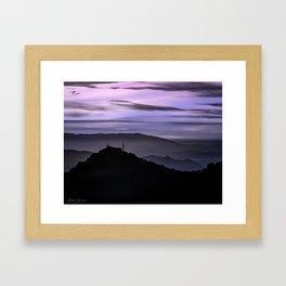 PASTEL VIEW Framed Art Print