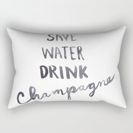 Save Water Drink Champagne Rectangular Pillow
