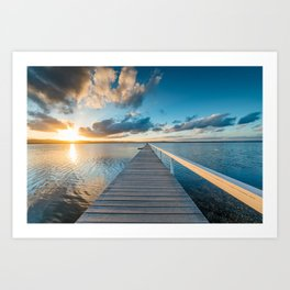 Long Jetty Art Print